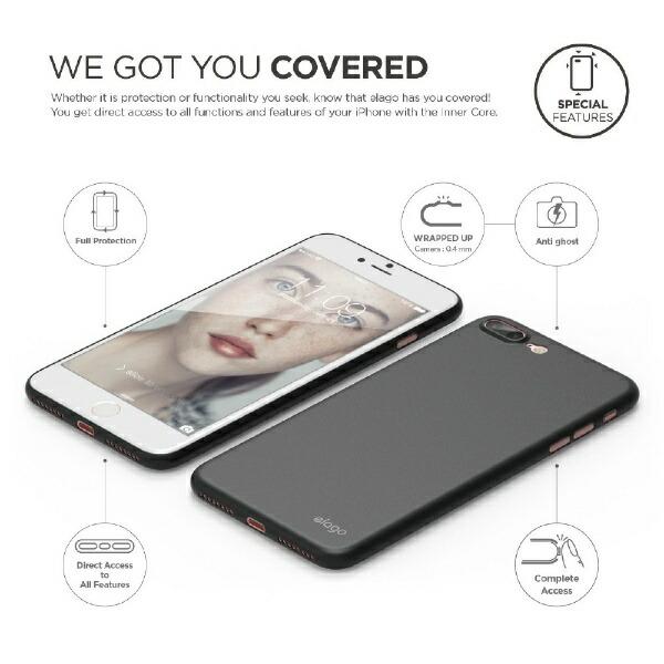 サンクチュアリSanctuaryelagoインナーコアforiPhone8Plus/7Plus/ブラック