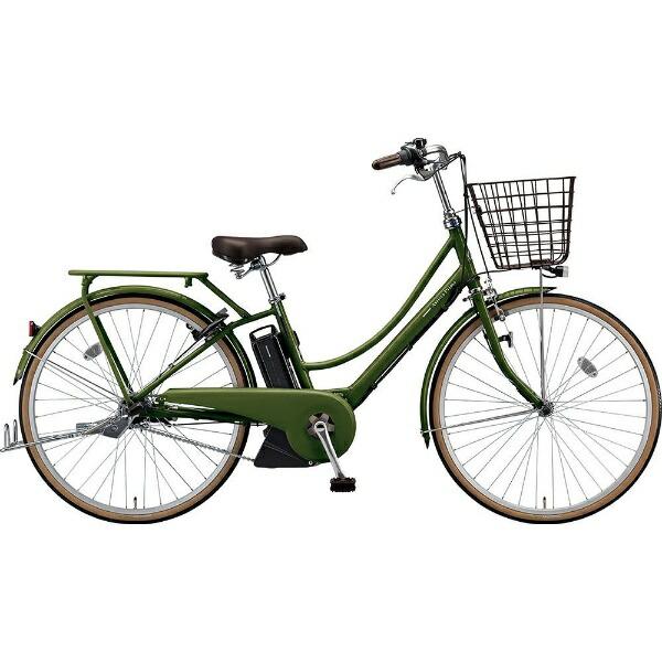 ブリヂストンBRIDGESTONE26型電動アシスト自転車アシスタプリマ(E.Xダークオリーブ/内装3段変速)A6PC18【2019年モデル】【組立商品につき返品不可】【代金引換配送不可】