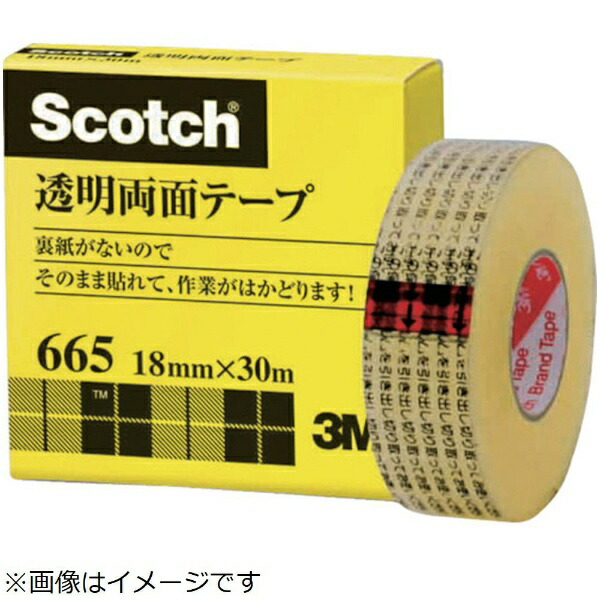 3Mジャパンスリーエムジャパン透明両面テ−プライナーなし18mmX30m巻芯径25mm