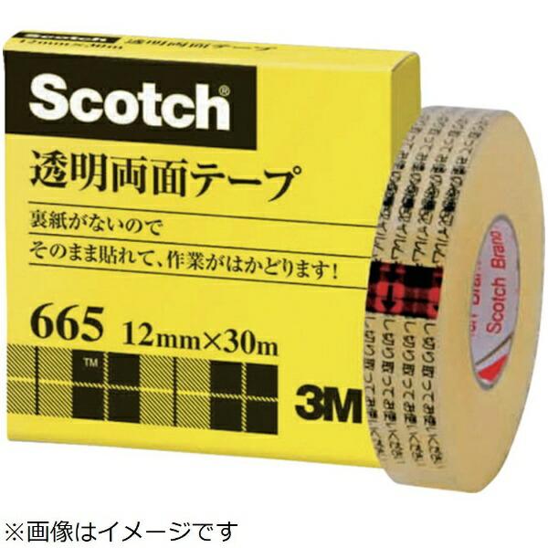 3Mジャパンスリーエムジャパン透明両面テ−プライナーなし12mmX30m巻芯径25mm