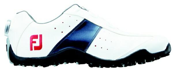 フットジョイFootJoy27.0cm/靴幅:3EメンズスパイクレスゴルフシューズEXLSpikelessBoa(White×Navy)#45181