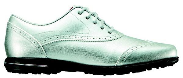 フットジョイFootJoy23.0cm/靴幅:3EレディーススパイクレスゴルフシューズTailoredCollection(Silver)#91689