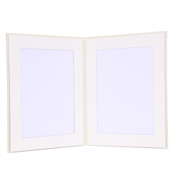 チクマChikuma写真台紙No.37立ハガキ2面クリーム12997-4クリーム[タテ/KG・ポストカードサイズ/2面]