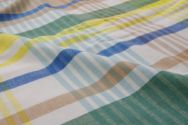 イケヒコIKEHIKO【掛ふとんカバー】バジルダブルサイズ(190×210cm/ブルー)