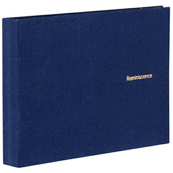 セキセイSEKISEIハーパーハウスレミニッセンスミニポケットアルバム高透明L判40枚収容XP-5540ネイビーブルー