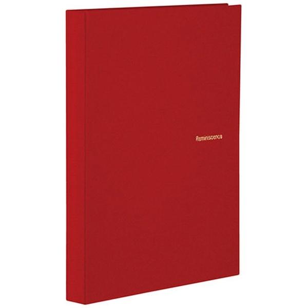 セキセイSEKISEIハーパーハウスレミニッセンスミニポケットアルバム高透明L判80枚収容XP-5580レッド