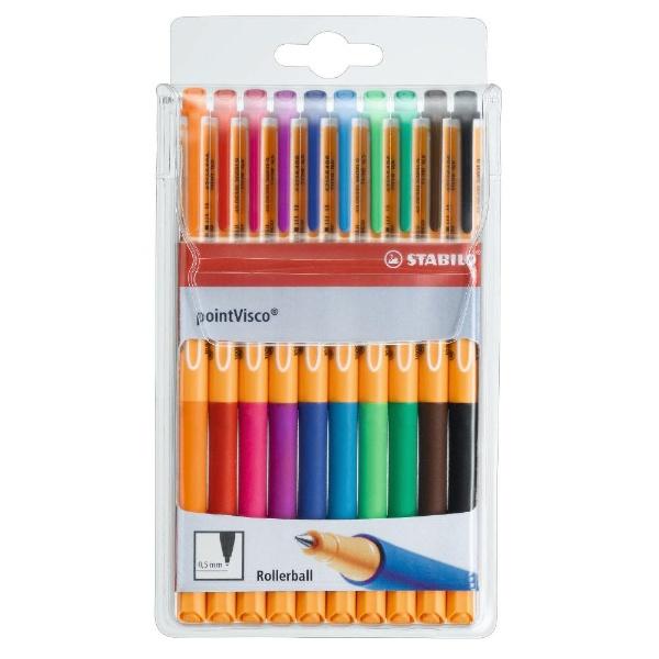 STABILOスタビロ[水性ボールペン]Stabiloポイントビスコ10色セット1099-10