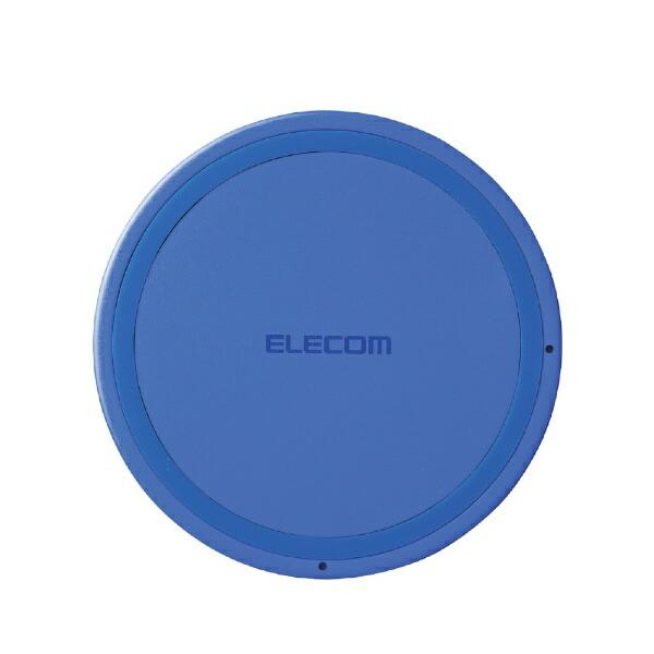 エレコムELECOMワイヤレス充電器[Qi対応]5W薄型卓上W-QA03XBUブルー[USB給電対応/ワイヤレスのみ][WQA03XBU]