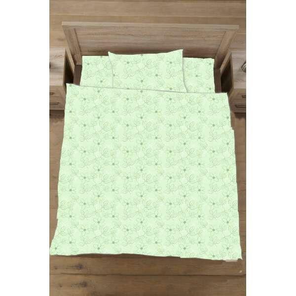 生毛工房UMOKOBO【ボックスシーツ】綿ローンリーフシングルサイズ(綿100%/100×200×30cm/グリーン)