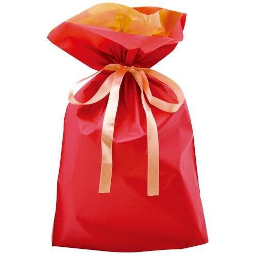 ササガワSASAGAWA[ラッピング]巾着袋レッド中5P50-4459