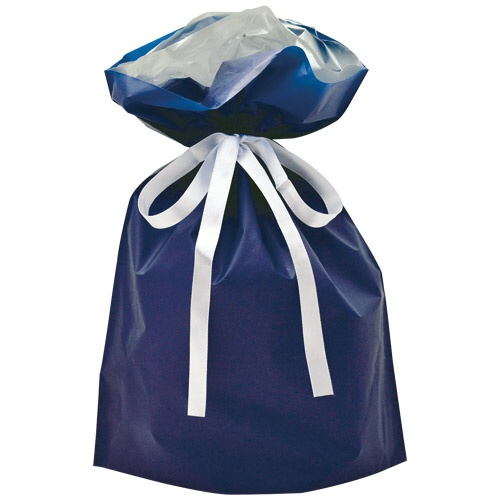 ササガワSASAGAWA[ラッピング]巾着袋中1Pネイビー50-4460