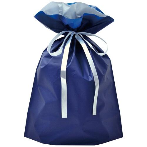 ササガワSASAGAWA[ラッピング]巾着袋大1Pネイビー50-4560