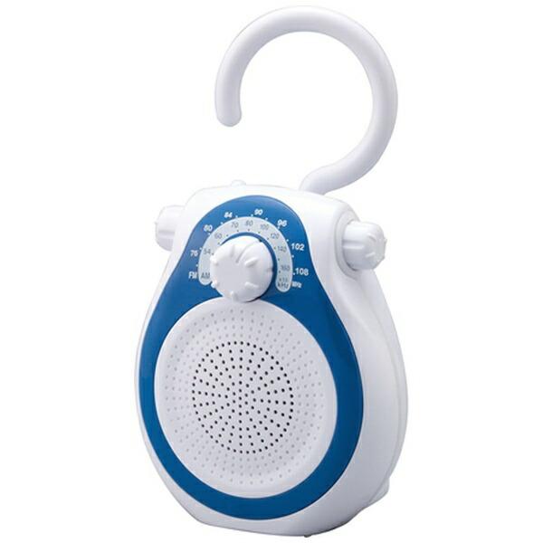 コイズミKOIZUMISAD-7714携帯ラジオブルー[防滴ラジオ/AM/FM/ワイドFM対応][SAD7714A]