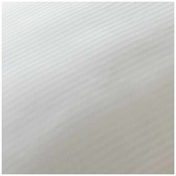 生毛工房UMOKOBO【掛ふとんカバー】サテンストライプシングルロングサイズ(綿100%/150×230cm/ホワイト)【日本製】(シングルロングサイズ/日本製)