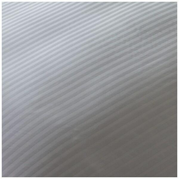 生毛工房UMOKOBO【掛ふとんカバー】サテンストライプシングルロングサイズ(綿100%/150×230cm/グレー)【日本製】(シングルロングサイズ/日本製)