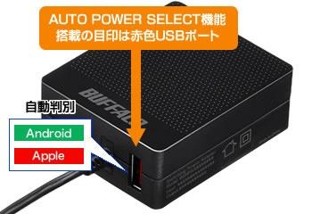 BUFFALOバッファロー[microUSB]ケーブル一体型AC充電器APS2.4Aケーブル+USBホワイトBSMPA2418BC2WH[2ポート/SmartIC対応]