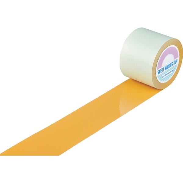 日本緑十字JAPANGREENCROSS緑十字ガードテープ(ラインテープ)オレンジ100mm幅×20m屋内用