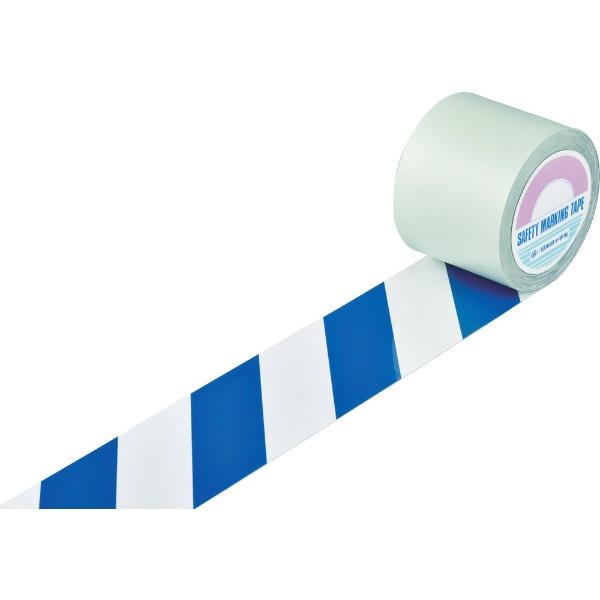 日本緑十字JAPANGREENCROSS緑十字ガードテープ(ラインテープ)白/青(トラ柄)100mm幅×20m