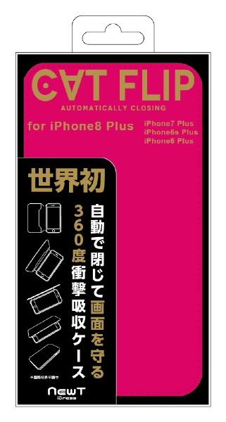 サンクレストSUNCRESTiPhone8Plus/7Plus/6sPlus/6Plus対応NEWTCATFLIPピンク