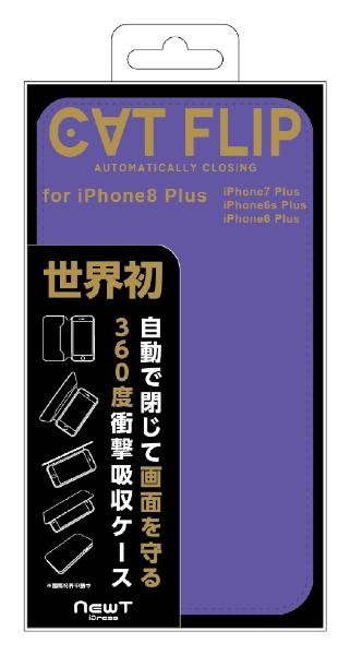 サンクレストSUNCRESTiPhone8Plus/7Plus/6sPlus/6Plus対応NEWTCATFLIPパープル