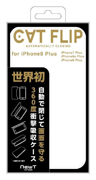 サンクレストSUNCRESTiPhone8Plus/7Plus/6sPlus/6Plus対応NEWTCATFLIPホワイト