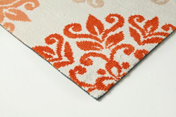 イケヒコIKEHIKO玄関マットニール(45×85cm/オレンジ)