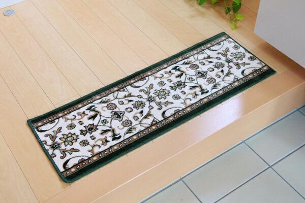 イケヒコIKEHIKO玄関マットメンデル(30×90cm/グリーン)