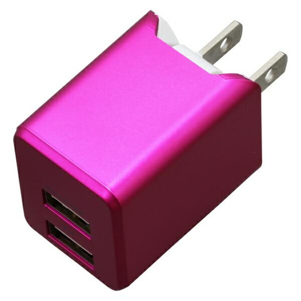 ティ・レイズTRCompanyAC充電器+Lightningケーブル1mPREMIUMマゼンタBU2ULAN3410MA[USB給電対応/2ポート]