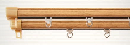 東京シンコールTOKYOSINCOL静音角型木目レール3m用(160-300cm)シングルナチュラル