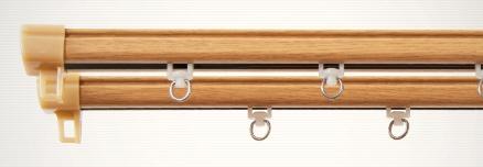 東京シンコールTOKYOSINCOL静音角型木目レール1m用(60-100cm)シングルナチュラル