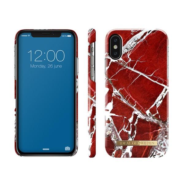 IDEALOFSWEDENiPhoneX用ケーススカーレットレッドマーブルIDFCS18-I8-71