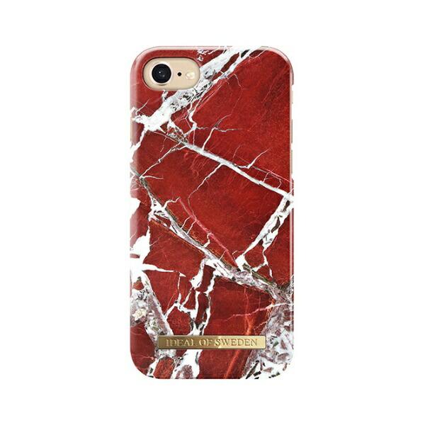 IDEALOFSWEDENiPhone8/7/6S/6用ケーススカーレットレッドマーブルIDFCS18-I7-71