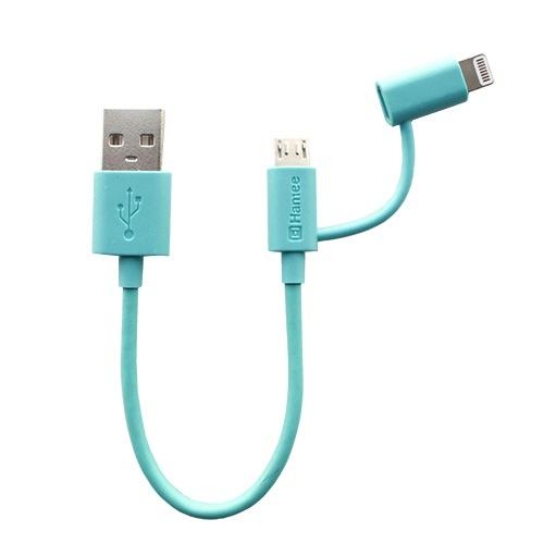 HAMEEハミィ[MFi取得品]ColorCablewithライトニングコネクタ2in110cm(マット/ブルー)276-887547[0.1m]
