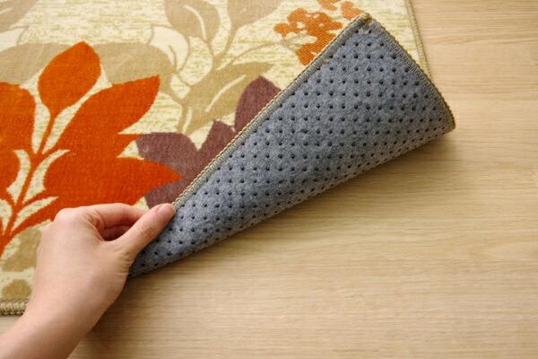 イケヒコIKEHIKO玄関マットナターシャ(60×90cm/オレンジ)