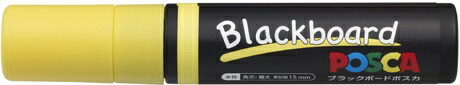 三菱鉛筆MITSUBISHIPENCIL[水性マーカー]ブラックボードポスカ極太角芯PCE50017K1P.2黄