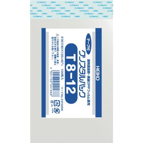 シモジマSHIMOJIMAHEIKOOPP袋テープ付きクリスタルパックT8−12