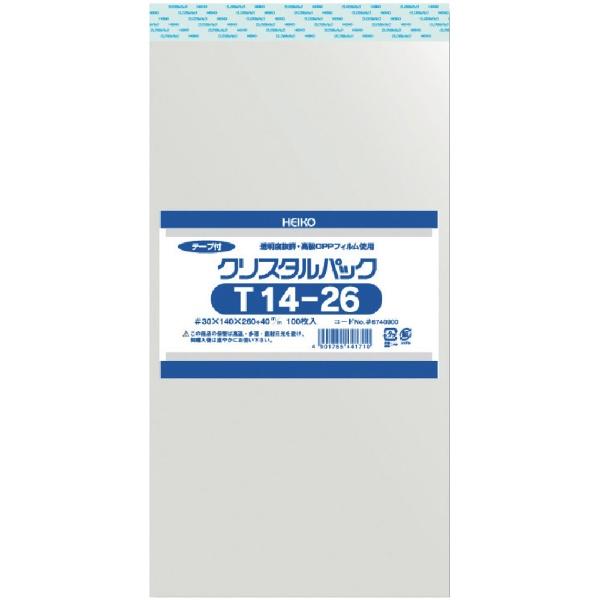 シモジマSHIMOJIMAHEIKOOPP袋テープ付きクリスタルパックT14−26
