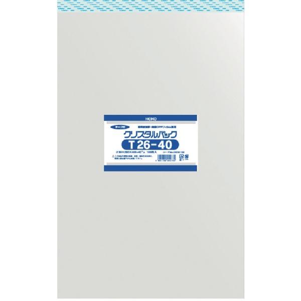 シモジマSHIMOJIMAHEIKOOPP袋テープ付きクリスタルパックT26−40