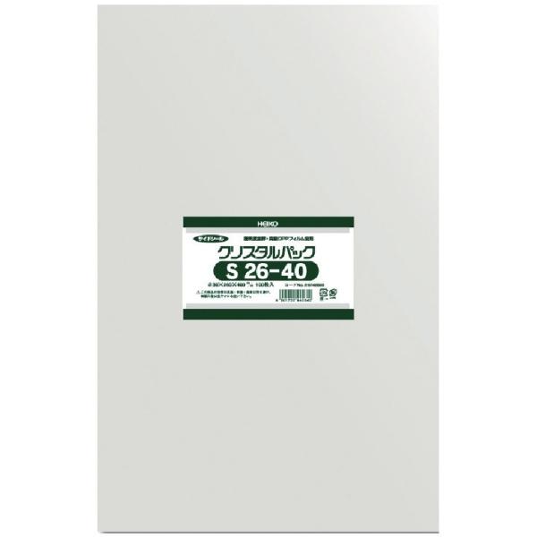 シモジマSHIMOJIMAHEIKOOPP袋テープなしクリスタルパックS26−40