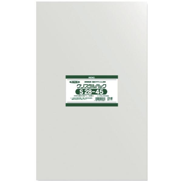 シモジマSHIMOJIMAHEIKOOPP袋テープなしクリスタルパックS28−45