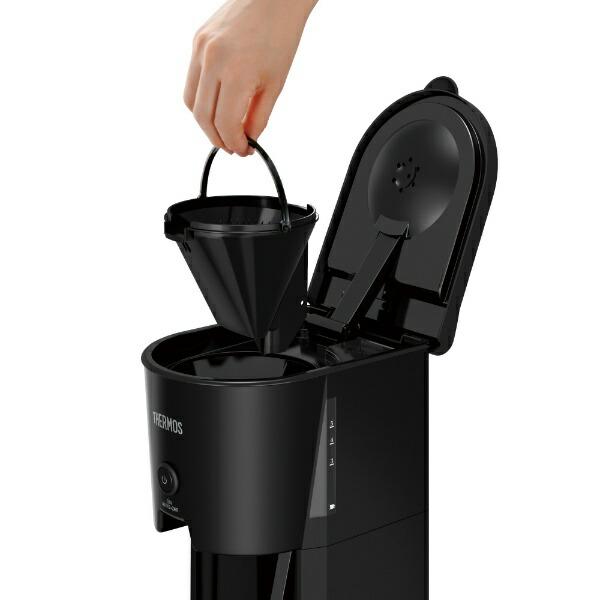 サーモスTHERMOS真空断熱ポットコーヒーメーカーブラックECJ-700(BK)[ECJ700BK]