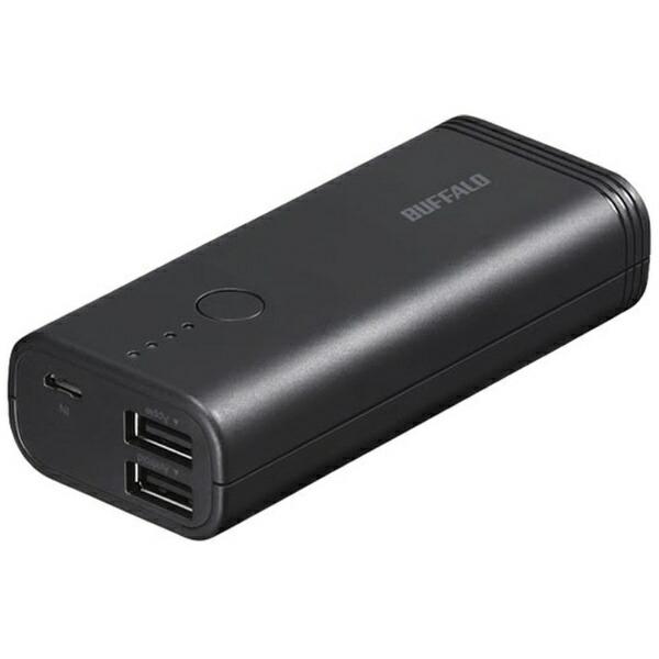 BUFFALOバッファローモバイルバッテリーブラックBSMPB5218P2[5200mAh/2ポート/充電タイプ]