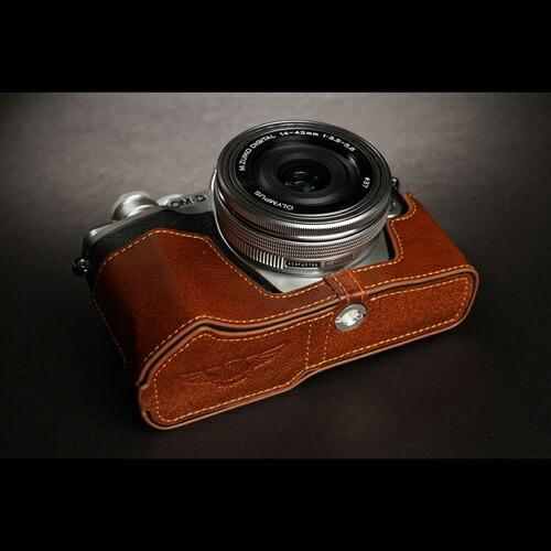 YaMeiTechnologyヤメイテクノロジーOLYMPUSE-M10III用カメラボディケースTPCHOEM10MK3BRTPCHOEM10MK3BRブラウン