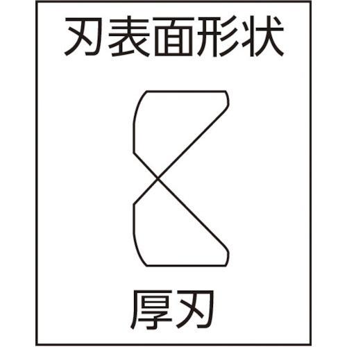 ツノダTTCKingTTCHARD強力ニッパーJIS刃部1ツ穴付バネ付