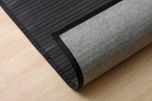 イケヒコIKEHIKO竹廊下敷きマット無地糸なしタイプ『ユニバース』(80×240cm/ブラック)