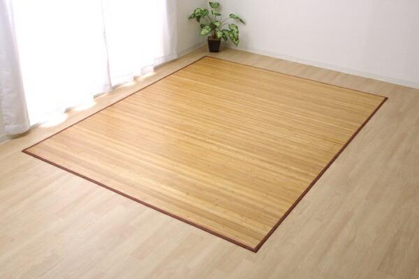イケヒコIKEHIKO竹カーペット無地孟宗竹皮下使用『ローマ』(180×220cm/ライトブラウン)