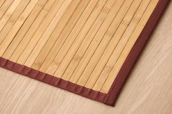 イケヒコIKEHIKO竹廊下敷きマット無地孟宗竹皮下使用『ローマ』(80×440cm/ライトブラウン)