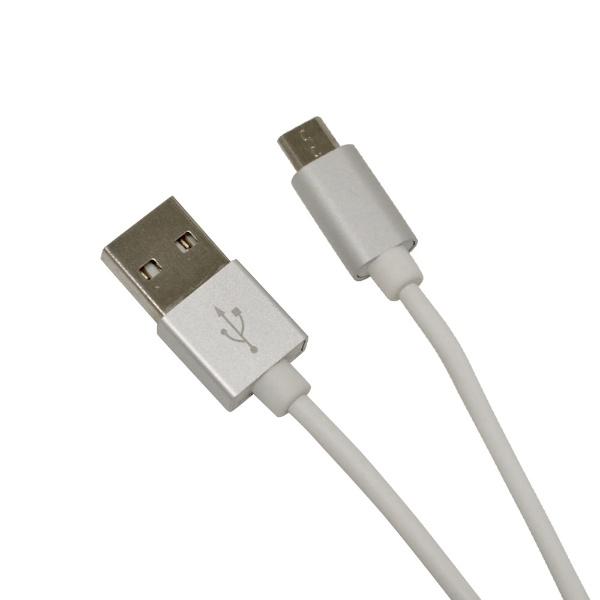 ラスタバナナRastaBanana[microUSB]充電・通信ケーブルアルミ1.2mR12CAAM2A01SVシルバー[1.2m]