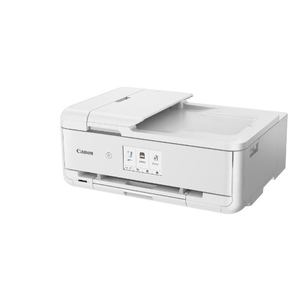 キヤノンCANONインクジェット複合機ホワイトTR9530WH[カード/名刺〜A3][ハガキ年賀状印刷プリンタTR9530WH5色]