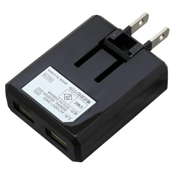 バウトBAUT[Type-C]ケーブル付属ケーブル一体型AC充電器3.4A1.0mBK